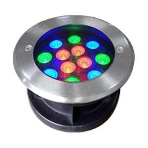 Đèn âm đất tròn 12x1W RGB