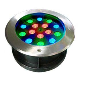 Đèn âm đất tròn 15x1W RGB