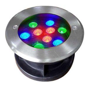 Đèn âm đất tròn 9x1W RGB